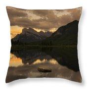 Vermillion Lake Sunset Throw Pillow