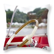 Vermont Boat Docked Throw Pillow