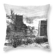 Vermont Bridge Collapse Throw Pillow