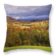 Vermont Colors Throw Pillow
