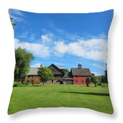Vermont Country Home Throw Pillow