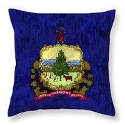 Vermont Flag Throw Pillow