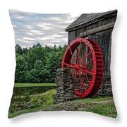 Vermont Grist Mill Throw Pillow