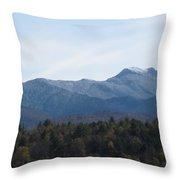 Vermont Mountains Throw Pillow