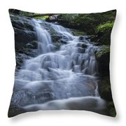 Vermont New England Waterfall Green Trees Forest Throw Pillow