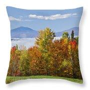 Vermont October Morning Throw Pillow