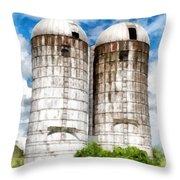 Vermont Silos Throw Pillow