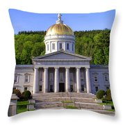 Vermont State Capitol In Montpelier  Throw Pillow