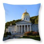 Vermont State House Throw Pillow