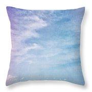 Vermont Summer Beach Boats Clouds Throw Pillow