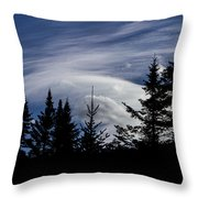 Vermont Tree Silhouette Clouds Cloudscape Throw Pillow