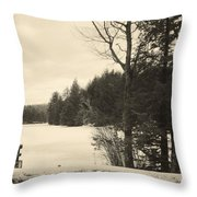Vermont Winterland Throw Pillow