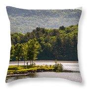 Vermonts Lake Fairlee Throw Pillow