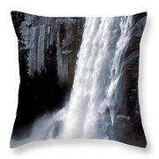 Vernal Falls Profile Throw Pillow