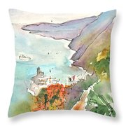 Vernazza In Italy 06 Throw Pillow