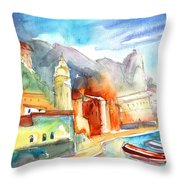 Vernazza In Italy 07 Throw Pillow