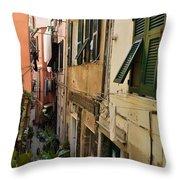 Vernazza Street Throw Pillow
