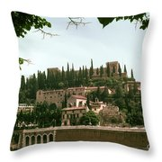 Verona On The Adige Throw Pillow