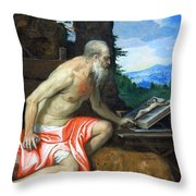 Veronese's Saint Jerome In The Wilderness Throw Pillow