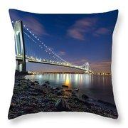 Verrazano-narrows Bridge  Throw Pillow