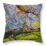 Vers L'escaladieu Throw Pillow