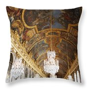 Versailles Hall Of Mirrors Throw Pillow