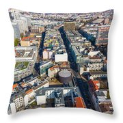 Vertical Aerial View Of Berlin Throw Pillow