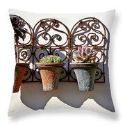 Vertical Cacti Garden Throw Pillow