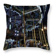 Vertical Carousel Throw Pillow