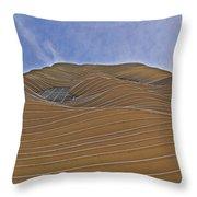 Vertical Dune - The Aqua Tower Throw Pillow