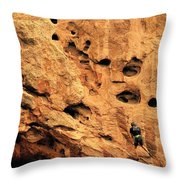 Vertical Exploration Throw Pillow