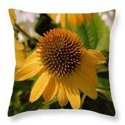 Vertical Yellow Flowers Throw Pillow