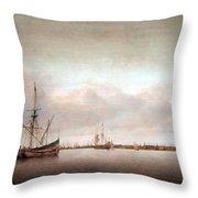 Verwer's View Of Hoorn Throw Pillow