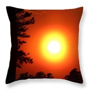Very Colorful Sunset Throw Pillow