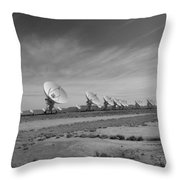 Very Large Array In Black And White Throw Pillow