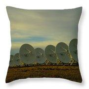 Very Large Array Near Socorro New Mexico Throw Pillow
