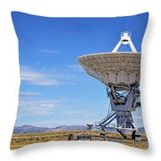 Very Large Array - Vla - Radio Telescopes Throw Pillow by Christine Till