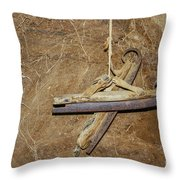 Very Old Ice Skates Throw Pillow