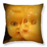 Very Scary Doll Throw Pillow