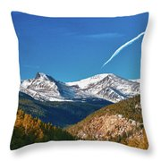 Very Thin Air Throw Pillow