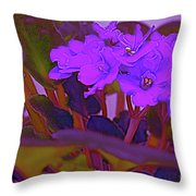 Very Violets  Throw Pillow