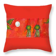 Vesak Lanterns Throw Pillow