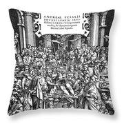 Vesalius Teaching Anatomy Throw Pillow