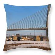 Veterans Glass City Skyway Pano Throw Pillow