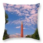 Veterans Memorial Denver Throw Pillow