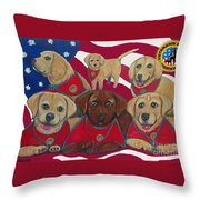 Vets Moving Forward Pups Throw Pillow