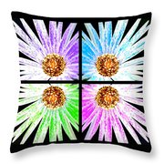 Vexel Flower Collage Throw Pillow