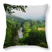Vezere River Valley Throw Pillow