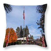 Vfw Hall Veterans Day Throw Pillow