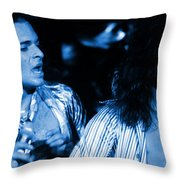 Vh #2 In Blue Throw Pillow